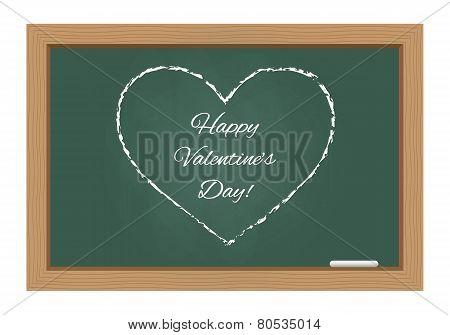 Happy Valentine's Day Text On Chalkboard