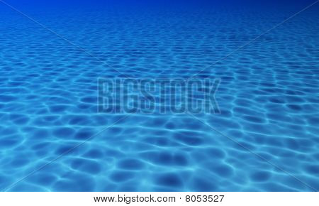 Water surface with caustics.