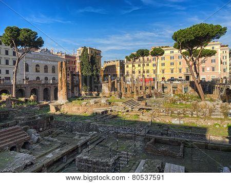 Largo Di Torre Argentina In Rome