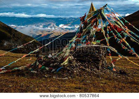 Prayer flag in highland