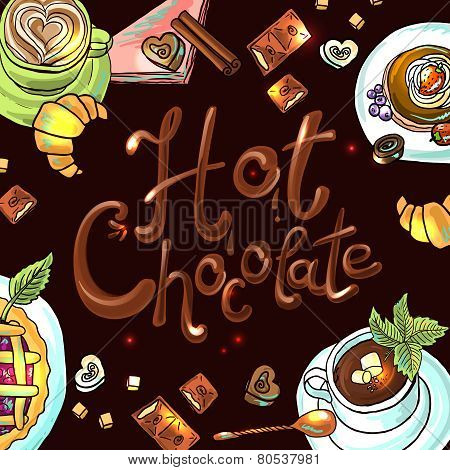 beautiful background hot chocolate