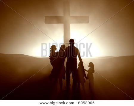 Family at the Cross of Jesus Christ