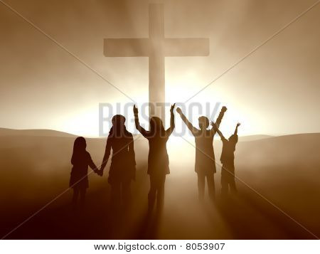 Kids at the Cross of Jesus Christ