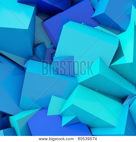 Abstract geometric background of colored cubes