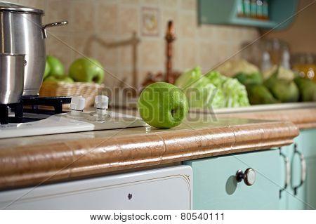 Apple On Tabletop