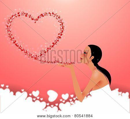 Girl Sends Heart