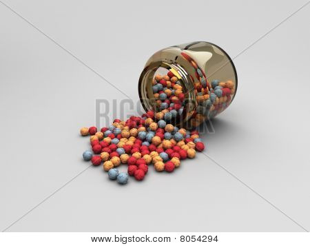 Jar with Scattered Question Balls