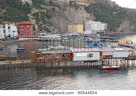 The Port Of Marina Grande In Sorrento, Italy