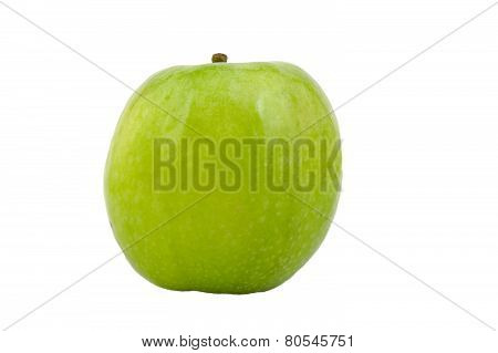 Granny Smith green apple isolated on white.