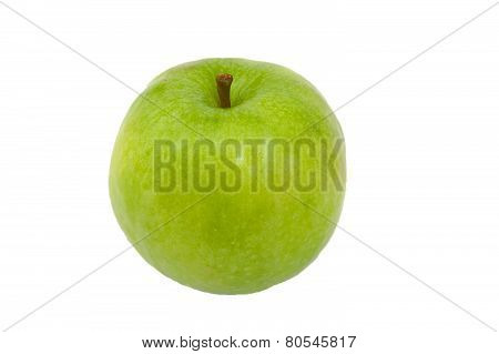 Green Granny Smith apple isolated on white.