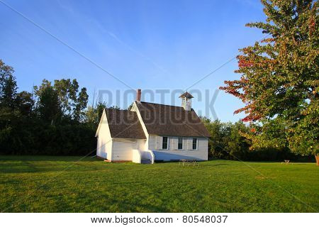 Small historic church in the state of Michigan