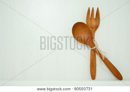 Wood Spoon And Fork