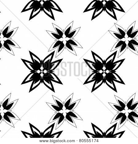 black ethnic ornament drawn coal
