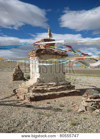 Cairn. Buddhist stupa, choyten.