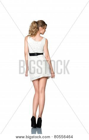 Beautiful Young Slim Woman Full Body Studio Portrait