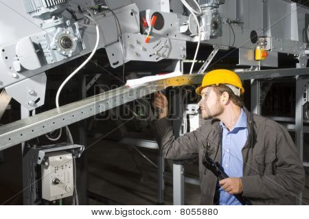 Maintenance Engineer At Work