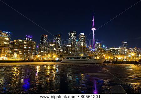 Toronto Skyline In The Winter From The West