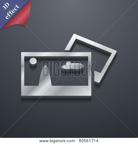 File Jpg  Icon Symbol. 3D Style. Trendy, Modern Design With Space For Your Text Vector
