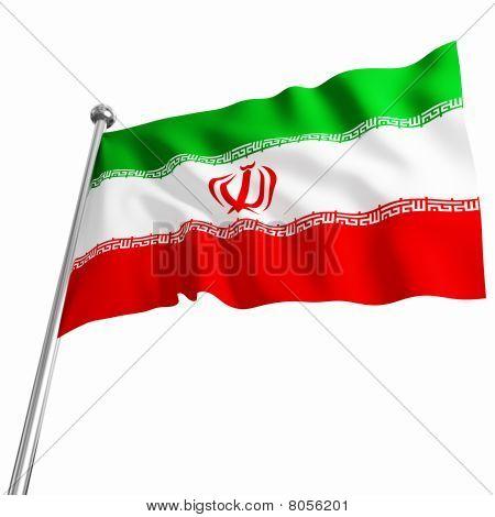 Iranian Flag 3D