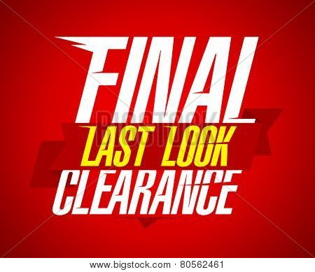 Final clearance sale design, last look.