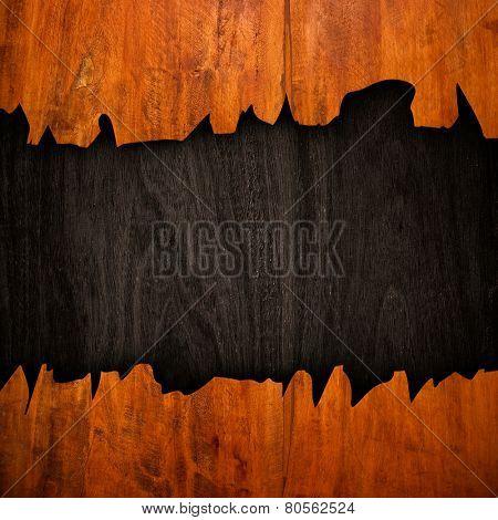broken wood board
