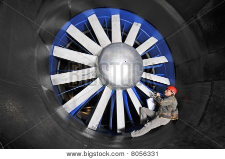 Inspecting A Wind Tunnel