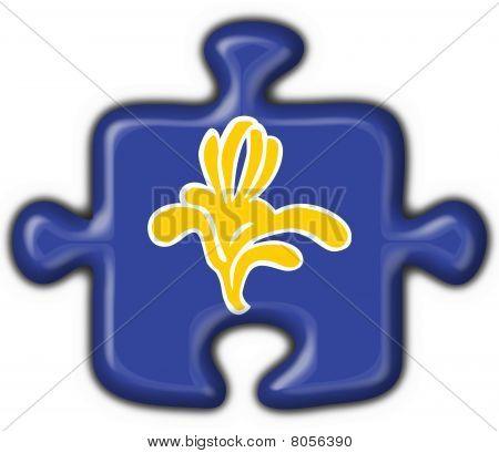 Flag Of Brussels (belgium) Puzzle Shape