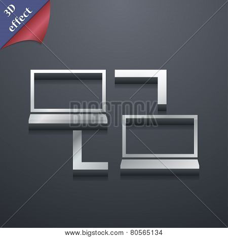 Synchronization  Icon Symbol. 3D Style. Trendy, Modern Design With Space For Your Text Vector