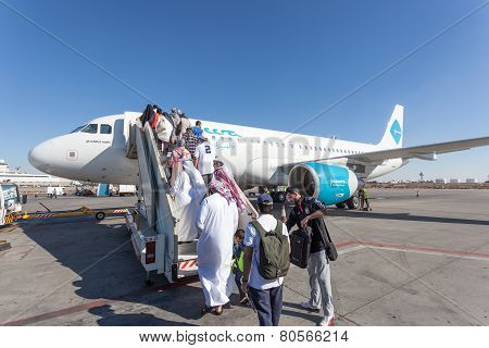 Jazeera Airways Airplane Boarding