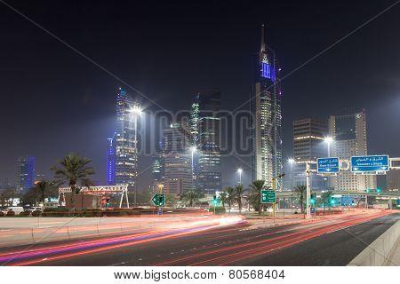 Downtown Kuwait City At Night