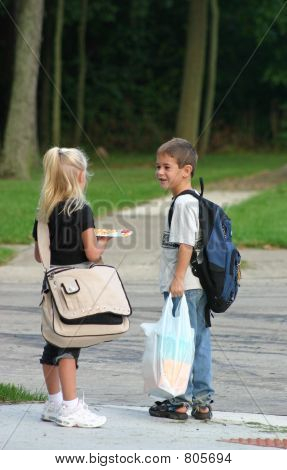 Kids at Bus Stop