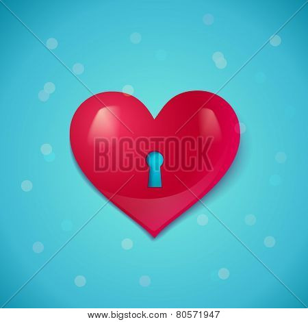 heart with keyhole