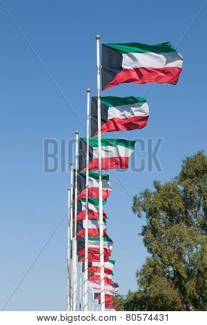 Kuwait National Flags
