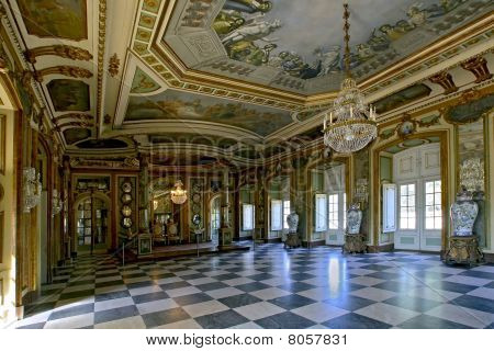 The Hall Of Ambassadors In Queluz National Palace