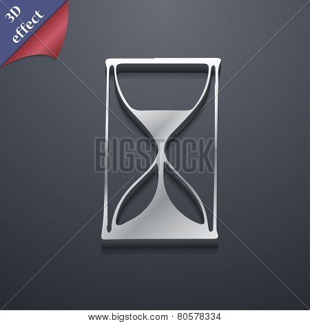 Hourglass Icon Symbol. 3D Style. Trendy, Modern Design With Space For Your Text Vector