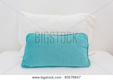 Two Pillows On The Bed. To Sleep.