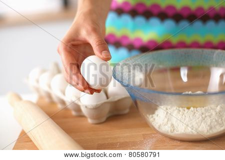 Baking ingredients for shortcrust pastry, plunger