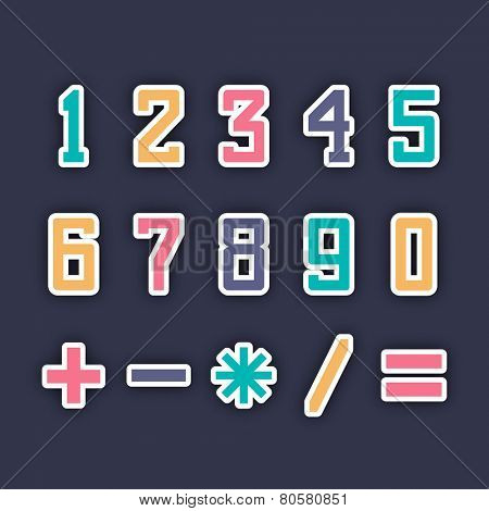 Mathematics numbers, figures, signs and symbols.