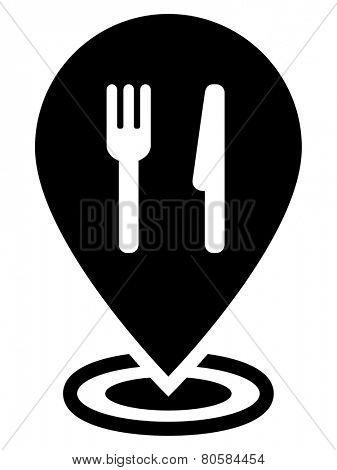 Restaurant map pointer icon
