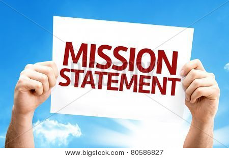 Mission Statement card with a beautiful day
