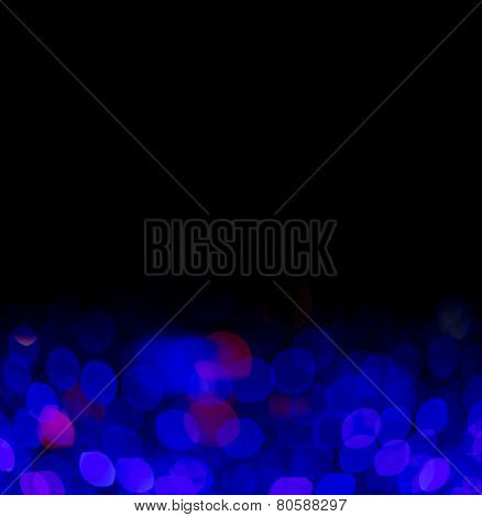 Black background with electric blue lights