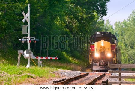 Train At Crossing
