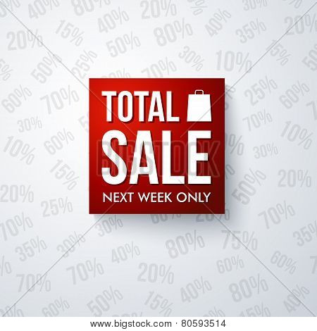 Total sale design template.