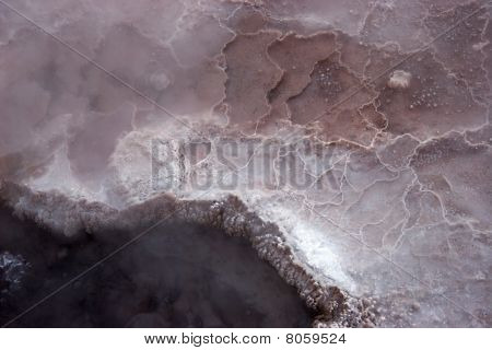 Hot Spring Mineral Surface