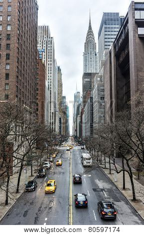 View Along 42Nd Street, Manhattan