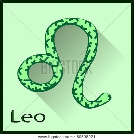 Leo  Zodiac sign vector illustration