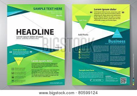 Brochure Design A4 Vector Template.