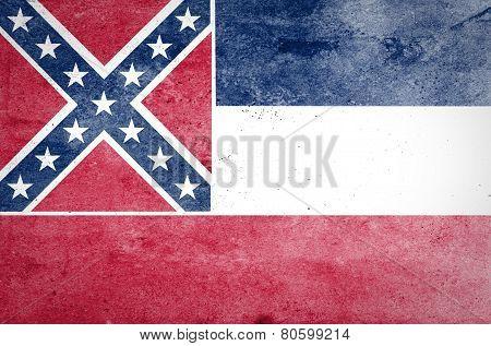 Grunge Mississippi State Flag