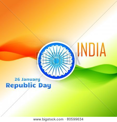 tri color indian flag design for 26 january republic day