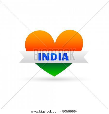 indian flag style making heart design showing love towards nation india